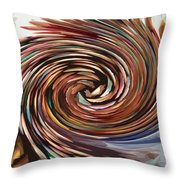 Colored Pencil Rose Throw Pillow