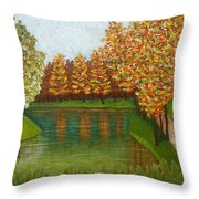 Colored Reflections Throw Pillow