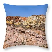 Colored  Stone Throw Pillow