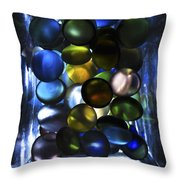Colored Stones Of Light Throw Pillow