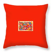 Colored Triangles Throw Pillow