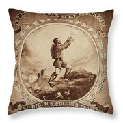 Colored Troop Recruiting Throw Pillow