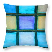 Colored Window Panes Throw Pillow