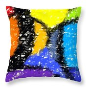 Colorful Abstract 3 Throw Pillow