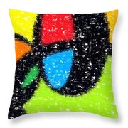 Colorful Abstract 5 Throw Pillow