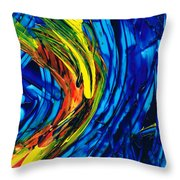 Colorful Abstract Art - Energy Flow 2 - By Sharon Cummings Throw Pillow
