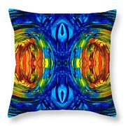Colorful Abstract Art - Parallels - By Sharon Cummings  Throw Pillow