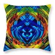 Colorful Abstract Art - Purrfection - By Sharon Cummings Throw Pillow
