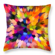 Colorful Abstract Background Throw Pillow