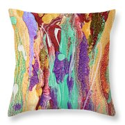 Colorful Abstract Falls Throw Pillow by Julia Apostolova