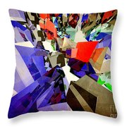 Colorful Abstract Geometric Cluster Throw Pillow