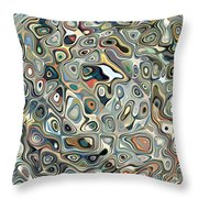 Colorful Abstract Shapes 2 Throw Pillow