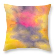 Colorful Abstract Tree At Sunset Throw Pillow