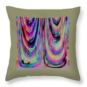 Colorful Abstract W Throw Pillow