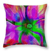 Colorful African Violet Throw Pillow