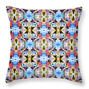 Colorful Angles Pattern Throw Pillow