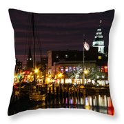 Colorful Annapolis Evening Throw Pillow