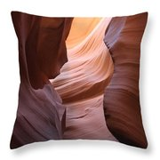 Colorful Antelope Canyon Waves Throw Pillow