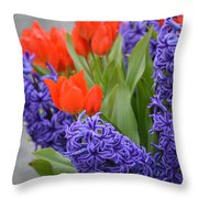 Colorful Arrangement Throw Pillow