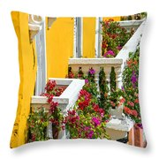 Colorful Balconies Throw Pillow