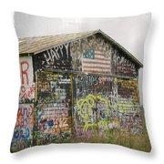 Colorful Barn Throw Pillow