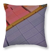 Colorful Bars Soap On Market In Provence Throw Pillow