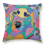 Colorful Dog Bear Throw Pillow