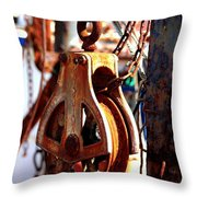Colorful Boat Pully Throw Pillow