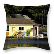 Colorful Boathouse Throw Pillow