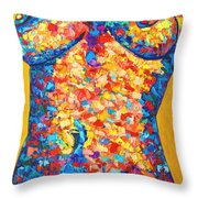 Colorful Bodyscape 1 Throw Pillow