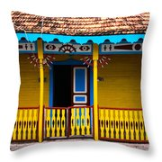 Colorful Building Throw Pillow