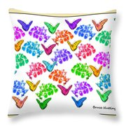 Colorful Butterflies Throw Pillow