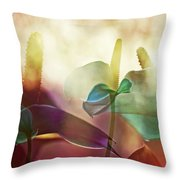 Colorful Calla Throw Pillow by Eiwy Ahlund