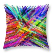 Colorful Cattails Throw Pillow