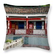 Colorful China Throw Pillow