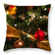 Colorful Christmas Ornaments  Throw Pillow