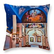 Colorful Church Throw Pillow