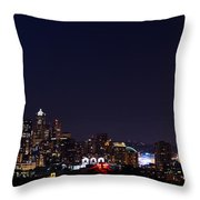 Colorful Citylights Throw Pillow
