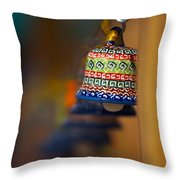 Colorful Clay Bells Throw Pillow