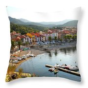 Colorful Collioure Throw Pillow