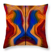 Colorful Compromise Throw Pillow