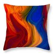 Colorful Compromises II Throw Pillow