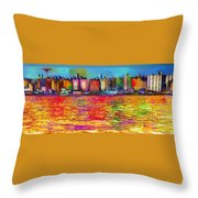 Colorful Coney Island Throw Pillow
