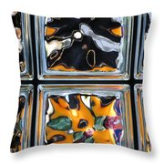 Colorful Contortion Throw Pillow