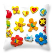 Colorful Cookies Throw Pillow
