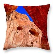Colorful Corona Rocks Throw Pillow