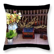 Colorful Country Still Life Throw Pillow