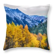 Colorful Crested Butte Colorado Throw Pillow