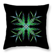 Colorful Crystalline Snowflake Throw Pillow