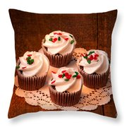 Colorful Cupcakes Throw Pillow